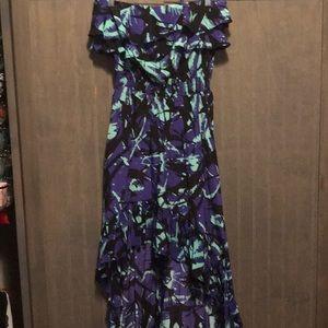 Hi-low dress with pockets